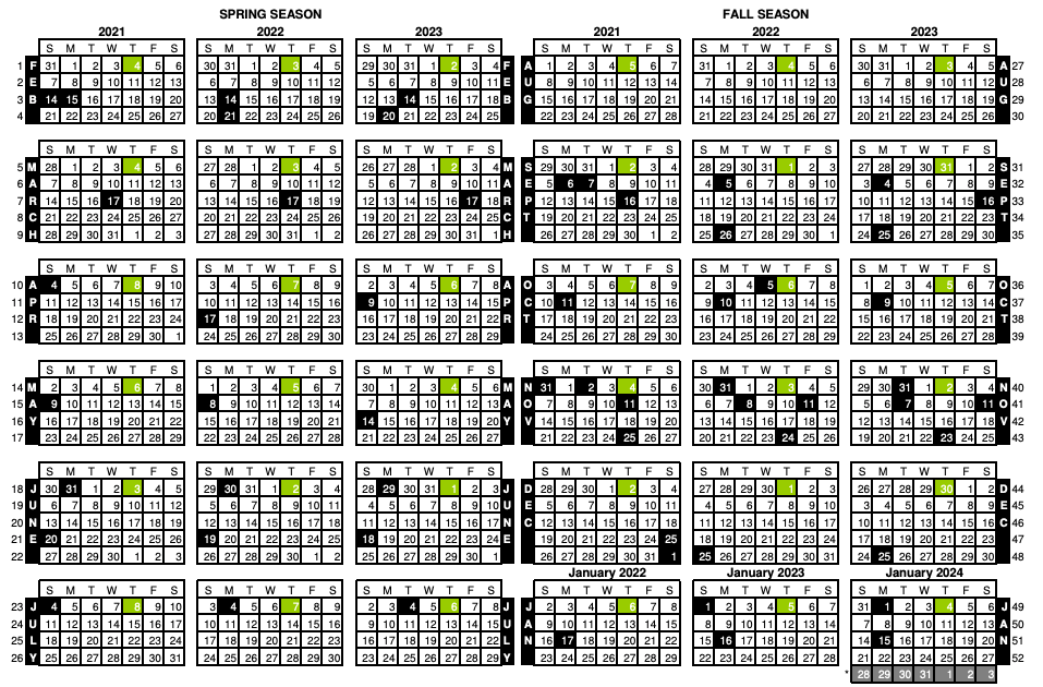 4-5-4 Merchandising Calendar